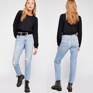Levi's | 501 High Rise Distressed Jeans Humble Pie